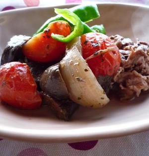 夏野菜たっぷりの牛肉入りラタトゥイユ