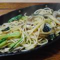 小松菜ときのこのパスタ