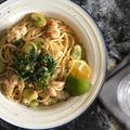 【レシピあり❗️】海老と空豆のスパゲッティー 焦がしバター醤油風味