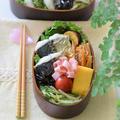【和風おもてなし】鰆の塩焼き弁当♡『レンチンきんぴら』&『お弁当用だし巻きたまご』のレシピ
