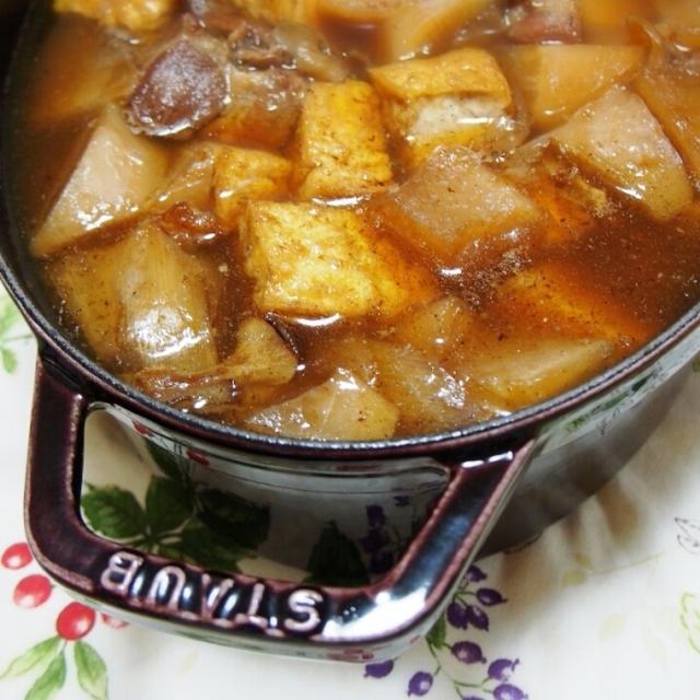 ストウブで大根と豚の角煮ご飯