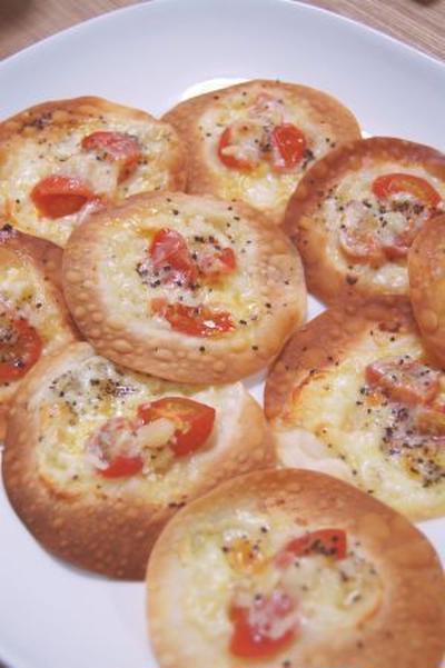 餃子の皮でつくる簡単ピッツァ