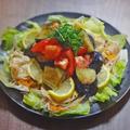 旨みたっぷり!トマトと揚げ茄子の冷しゃぶサラダ by KOICHIさん