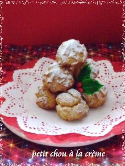 クリスマスに・・ツリー風☆プチシュークリーム