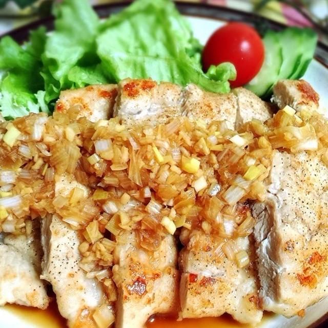マジうま☆鶏胸肉のネギたっぷりソース