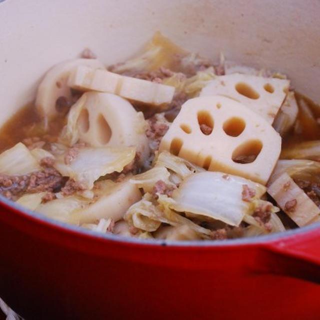 蓮根と白菜の煮物