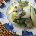 おもちと牡蠣のもろみ味噌炒め