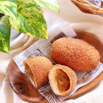 【パン】夏こそがっつり!?残りのカレーでサクサクカレーパン