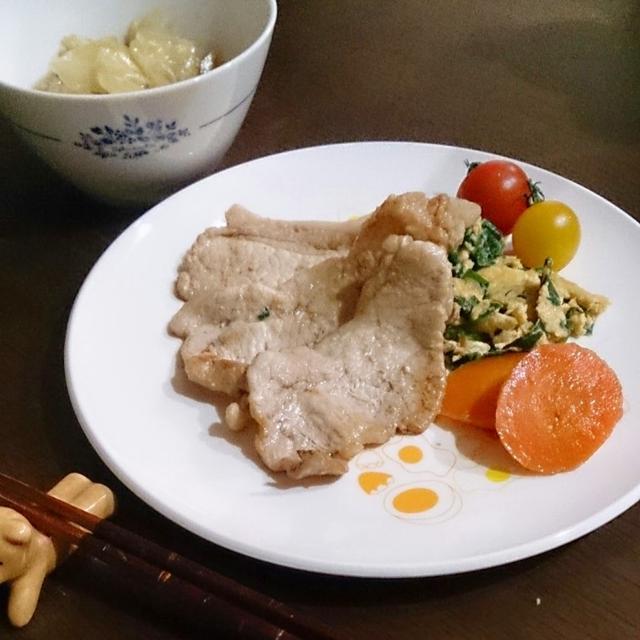 簡単! さっぱりと美味しい生姜焼き風♪ 【ほど塩レシピ】