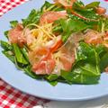 春はパスタ!サッと和えるだけで簡単〜生ハムとスイスチャードのサラダスパゲティ、と大好きな桜餅。