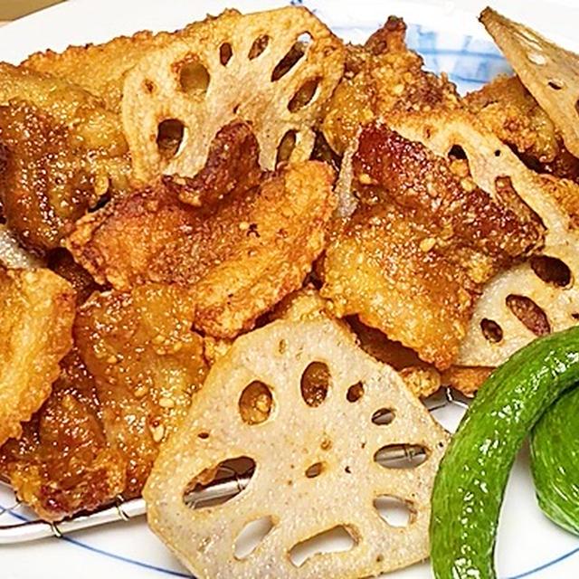 カリカリ豚肉の竜田揚げ/弁当おかずにおつまみに【今日の晩御飯】