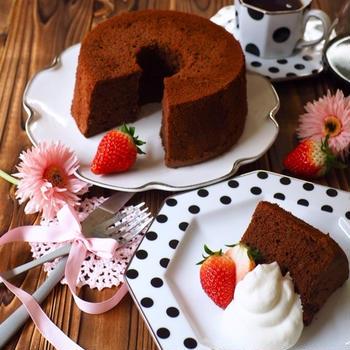 HMで簡単!失敗なしのチョコシフォンケーキ