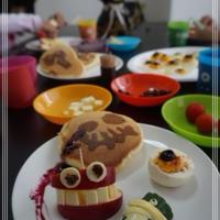 花と料理で楽しむ♪ハッピーハロウィン【フルーツモンスターと恐怖のパンケーキ】