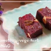 ビーガンスイーツ♪スパイス香るナッツとドライフルーツのチョコレート
