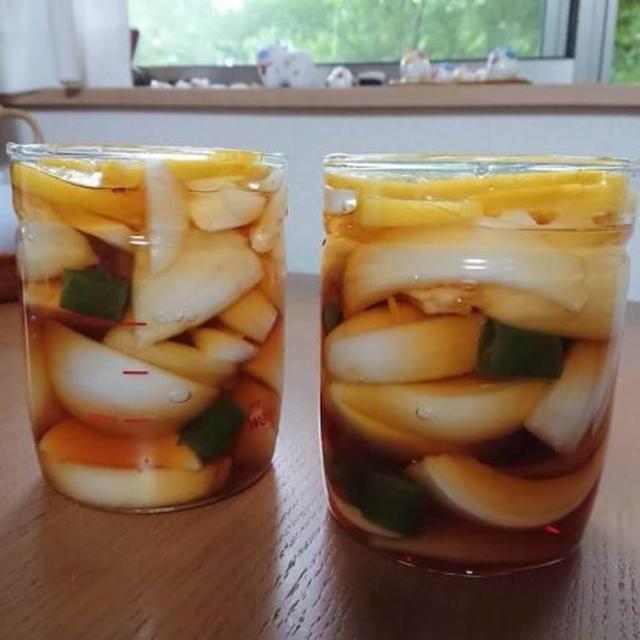 新玉ねぎの酢しょうゆ漬け、韓国人気レシピ。万能で簡単!ヤンパチャンアチ