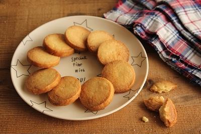 混ぜて切るだけの簡単アイスボックスクッキー!バニラ風味♪