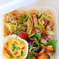 7月2日 木曜日 豚とキャベツの柚子胡椒スパゲティーニ&青ねぎとプチトマトのココット
