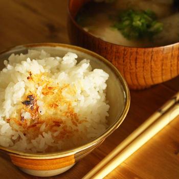 土鍋ご飯とお味噌汁