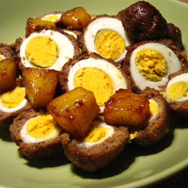 にんじん肉団子 inうで卵