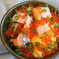 【レシピ】ふわとろ卵と!焼きハラスいくら丼!