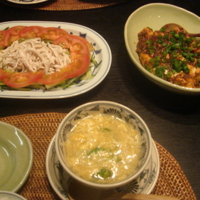 麻婆豆腐の副菜は???