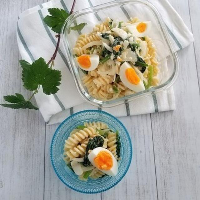 デリ風♡【レシピ】ほうれん草と卵のマカロニサラダ
