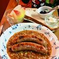 焼きソーセージ ~ レンティルとうずら豆のスープと by mayumiたんさん