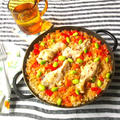 キューバ風鶏炊き込みご飯 アロス・コン・ポジョ Arroz con Pollo @グリルパンで