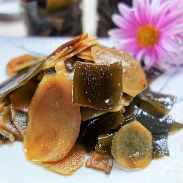 ■季節の常備菜【新生姜と昆布と椎茸の佃煮】