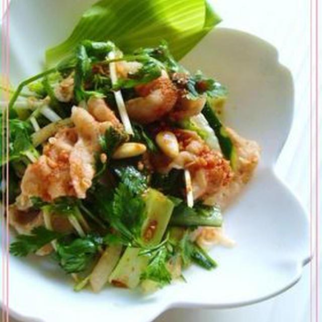 豚しゃぶと香味野菜のオリエンタルサラダ