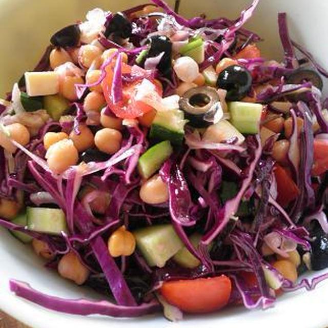 [サラダ]ひよこ豆のギリシャ風サラダ