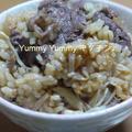 中華風牛肉とえのきだけの生姜ご飯と簡単スープ♪