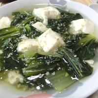 さっと煮るだけ☆ 白だしで小松菜と豆腐のとろみ煮
