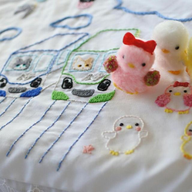 幼稚園の手作り刺繍