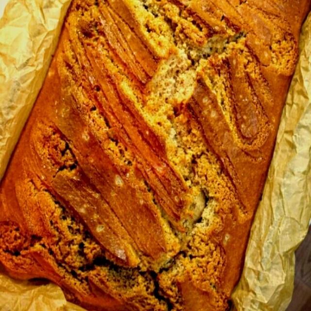 オヤツ:塩キャラメルのケーキ