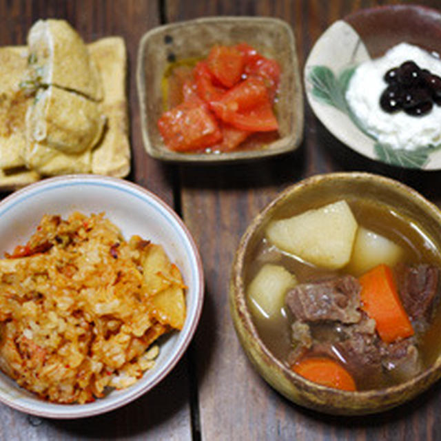 牛すね肉と根菜のスープ
