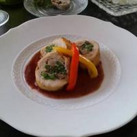 鶏モモ肉のホタテ・キノコバロティーヌ