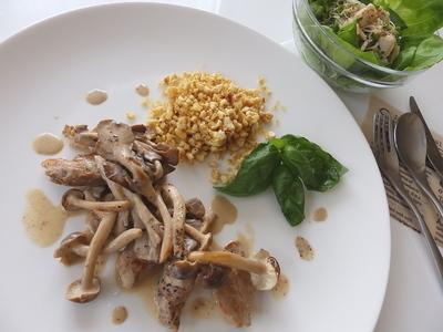 3日目昼食:クリーム煮ポロポロご飯添え