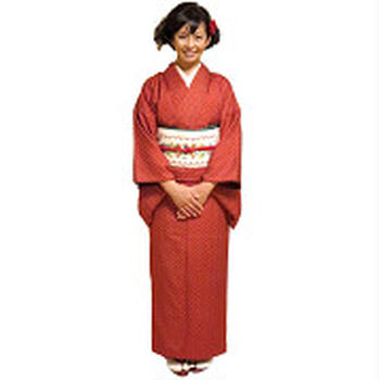 Kimono on the Children's Day with collar embr...