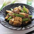 旬を味わう簡単中華! 筍とスナップエンドウと牛肉のオイスターソース炒め