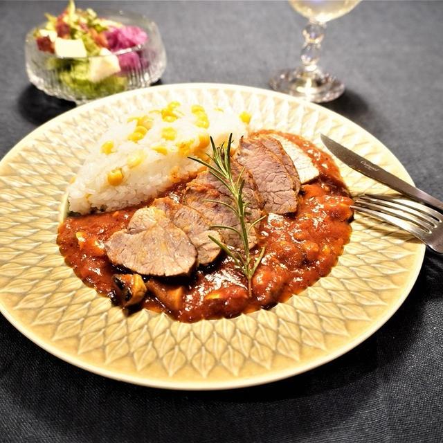 おうちごはんを楽しむ♪ワンプレートでおしゃれに簡単!豚肉のブレゼ