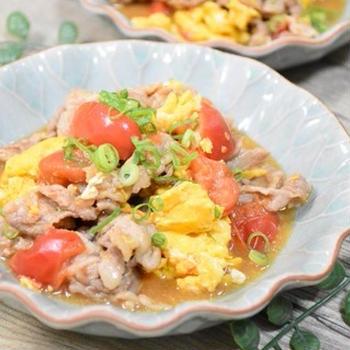 【アンバサダー】豚肉とトマトのオイスターソース炒め