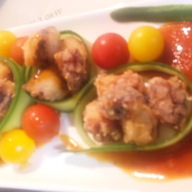 野菜のうまみドレッシング~蛸唐揚げと秋刀魚も!おしゃれイタリアンディッシュ♪(キッチン ラボ)
