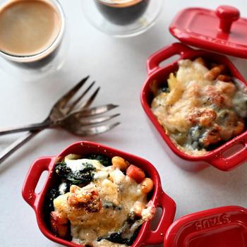 ほくほくポテトとほうれん草のチーズ焼き💛簡単💛作り置き💛常備菜