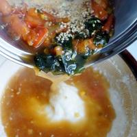 ■【理研ビタミン「焙煎ごまスープ」 で 大和芋のすり流し】 5分で濃厚な味わい♪