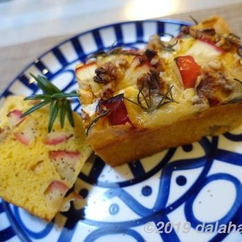 【レシピ】リンゴとカマンベールチーズのケーク・サレ 自宅で楽しむオシャレデリ
