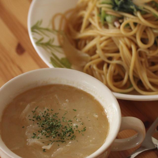 新玉葱の味噌スープ