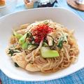 ささみとチンゲン菜のしらたき中華焼きそば【低カロリーなダイエット焼きそば】|レシピ・作り方