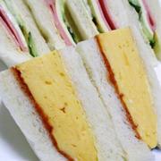 京都名物♪ふわふわ玉子サンド<ミックスサンド添え>