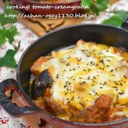 【レシピ】豚肉と野菜のトマトクリームグラタン